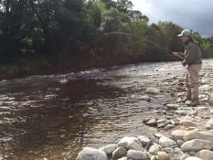 Cieran ODowd fishes the River Deveron