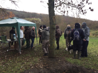 Anglers gather for the start of the WADAC Grayling Day